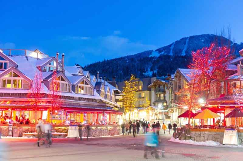 Whistler Village Winter Shopping arts culture
