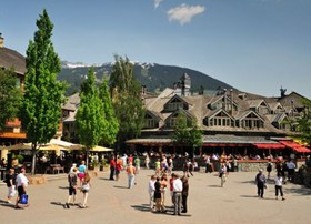 The pedestrian Whistler Village is an amazing place for a stroll, a bit to eat and shop.