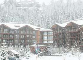 It's snowing in Whistler Creekside