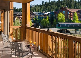 Your Private Balcony at First Tracks Lodge