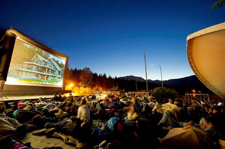 Outdoor Movie Creekside